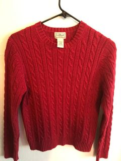 L.L Bean Red Sweater
