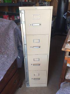 Metal Hon filing cabinet