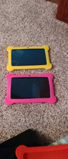 Kids tablets. Gently used. Both have rubber case