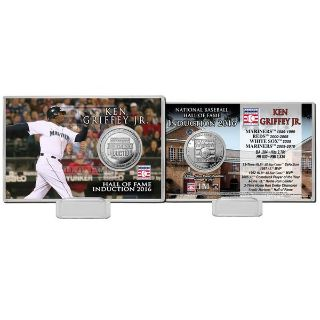 "Ken Griffey Jr. Highland Mint 4"" x 6"" 2016 Hall of Fame Induction Commemorative Coin Card"