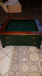 Large coffee table with shadow box ..$50