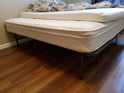 Full Size Mattress, Memory Form Pad & Metal Bed Frame
