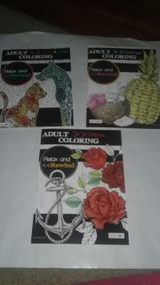 Brand new! Adult coloring books! (3)