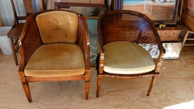 2 old chairs need some tlc. 40 for both or obo