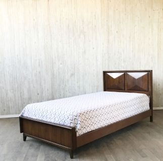 Mid Century Twin bed by United (two available)