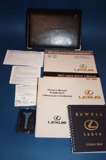 Purchase 2001 LEXUS RX 300 COMPLETE OWNERS MANUAL motorcycle in Allen, Texas, United States, for US $40.00