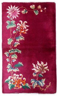 Handmade vintage Art Deco Chinese rug, 1B586