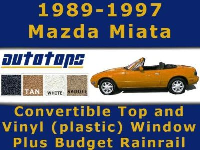 Find Miata Convertible Top And Vinyl Window + Rainrail Install Video Color Choice motorcycle in Shamokin, Pennsylvania, United States, for US $220.00