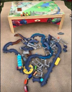 Train Table with trains & tracks EUC $60 for all!