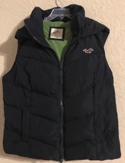 Hollister Gorgeous Like Brand New Zip Up Front Vest With Hood. Perfect Condition. Size Small