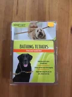 BNIB Dog Bathing Tethers