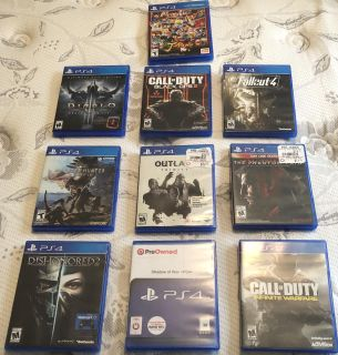 PS4 Games, Sell $10 Each or Trade for Xbox One Games