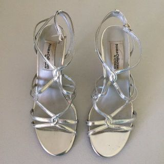 Silver Strappy Dress Shoes