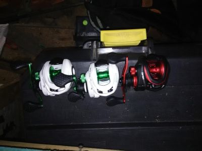 Lews baitcasters for sale 150 for all them or 50 a peice