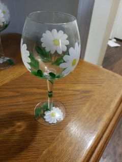Hand Painted wine glasses (set of 4)