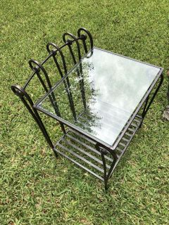 Iron and glass table