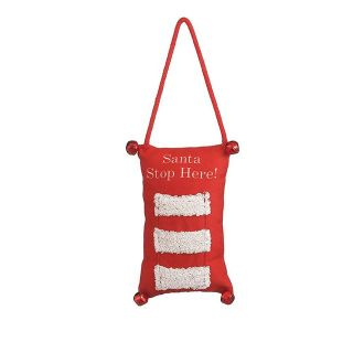 Santa Stop Here door hanger/gift card holder