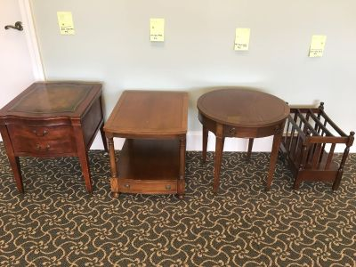 End tables and magazine rack