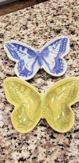 Set of two butterfly dishes. Dishwasher and microwave safe