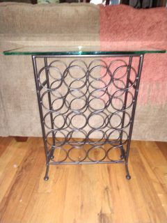 "Wine Rack/Table 27"" tall & 16.5 wide"