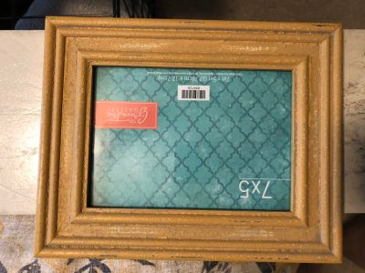 5x7 Mustard Color Picture Frame