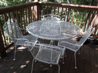 patio metal table with chairs, you supply umbrella