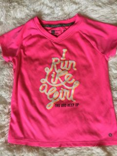 EUC size 5, hot pink athletic top.