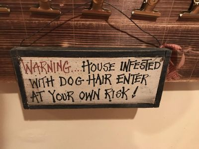 Funny dog sign