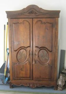 Solid Pine Wood Armoire - 2nd Closet