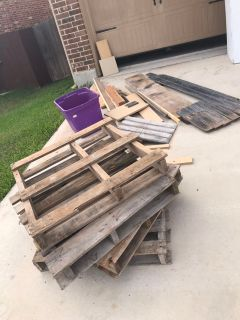 Free wood at our garage sale