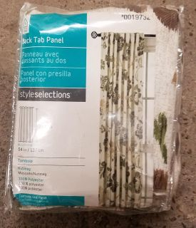 Style Selections 84in Back Tab Curtain Panel