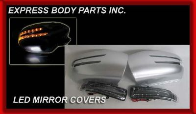 Purchase 2001-2007 2002 MERCEDES W203 C-CLASS SILVER MIRROR COVERS LED 2010 C230 C55 C32 motorcycle in North Hollywood, California, US, for US $126.00