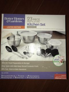 NEW IN BOX! Better Home & Gardens 23 piece Stainless Steel prep & store kitchen set pick up Derry