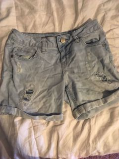 Girls size 10 justice jean shorts