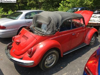 1968 VW Beetle Convertible READY for RESTORATION