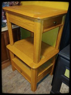 2 wood end tables, need stain or paint
