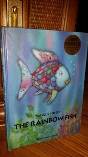 In new condition (was a collector's book, we did not use) LARGE THE RAINBOW FISH. PAID $20, $8, please no offers for $5, $6 or $7.