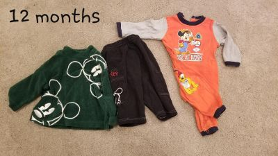 Boy 12 month Mickey disney outfits baby