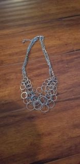 Hooped Necklace can be single or doubled ***Porch Pickup ***