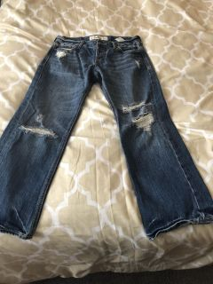 Women s Hollister ripped jeans