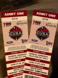 One day tickets cusa