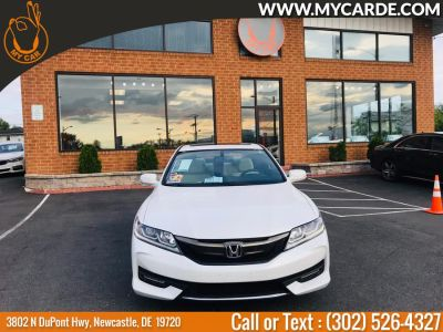 2016 Honda ACCORD COUPE 2dr I4 CVT EX-L (White Orchid Pearl)