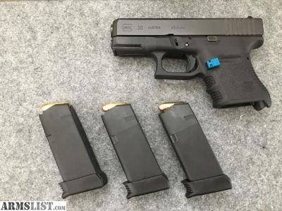 For Trade: Glock 30 Gen 3
