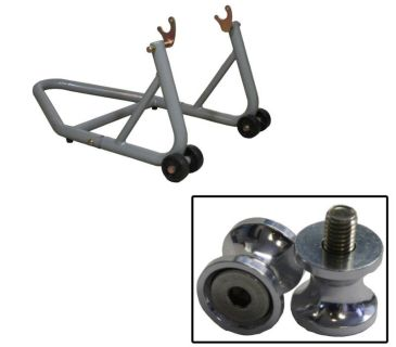 Sell Aluminum Silver Rear Stand w/ Aluminum Bobbin Spool Suzuki GSX-R1300 All-07 motorcycle in Ashton, Illinois, US, for US $81.89