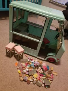 """18"""" Doll Ice Cream Truck, has a small broken area/crack at top but doesn't affect play! (Pic in comments) $50"""