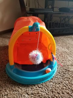 Cat house with toys