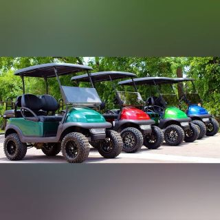 Metallic Golf Carts