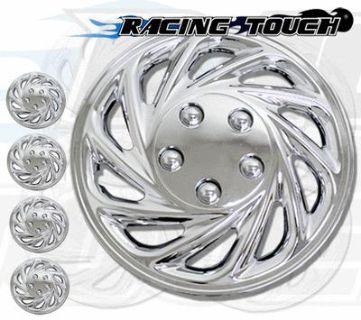 "Find Metallic Chrome 4pcs Set #868 15"" Inches Hubcaps Hub Cap Wheel Cover Rim Skin motorcycle in La Puente, California, US, for US $35.50"