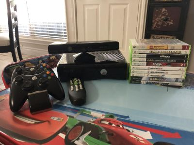 Xbox, remote, controllers & games