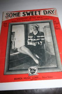 1929 Some Sweet Day song with ukulele sheet music